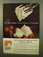 1964 Carnation Instant Nonfat Dry Milk Ad - Topping