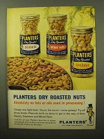 1964 Planters Dry Roasted Nuts Ad - No Fats or Oils
