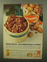 1964 Diamond Walnuts Ad - Great Holiday Eating