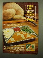 1964 Swanson Turkey TV Dinner Ad - Tender Turkey