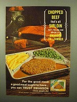 1964 Swanson Chopped Sirloin Beef TV Dinner Ad