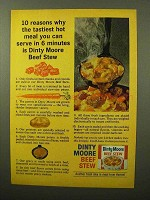 1964 Dinty Moore Beef Stew Ad - Tastiest Hot Meal