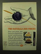 1964 Post Bran & Prune Flakes Cereal Ad - Two Naturals