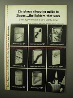 1964 Zippo Lighter Ad - Christmas Shopping Guide