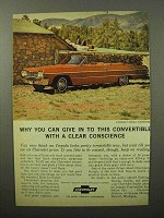 1964 Chevrolet Impala Convertible Ad - Clear Conscience