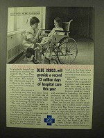 1964 Blue Cross Ad - Record Days of Hospital Care