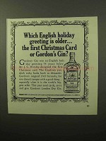 1964 Gordon's Gin Ad - Older Than First Christmas Card