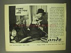 1964 The Sands Las Vegas Ad - Come As You Are