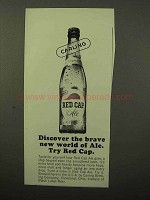 1964 Carling Red Cap Ale Ad - Brave New World