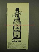 1964 Carling Red Cap Ale Ad - Import Taste Sensible