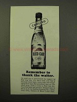 1964 Carling Red Cap Ale Ad - Thank The Waiter