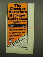 1964 Checker Marathon Car Ad - 33% Larger Inside