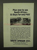 1964 South African Airways Railways Ad - Plan To See