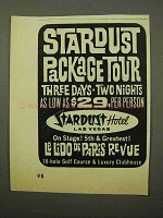 1964 Stardust Hotel Ad - Package Tour
