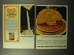 1964 Aunt Jemima Easy-Pour Pancake Mix Ad - Quicker