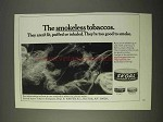 1970 Skoal Tobacco Ad - The Smokeless Tobaccos