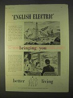 1954 English Electric Ad - Bringing You Better Living