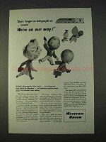 1946 Western Union Ad - Don't Forget to Telegraph Us
