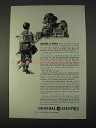 1942 General Electric Ad - Somewhere in America