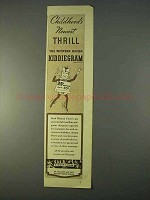 1936 Western Union Kiddiegram Ad - Newest Thrill