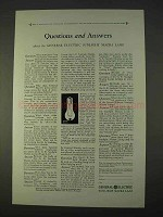 1931 General Electric Sunlight Mazda Lamp Ad - Answers
