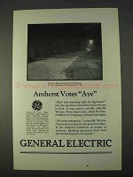 1926 General Electric Ad - Amherst Votes Aye