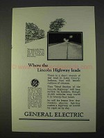 1926 General Electric Ad - Where Lincoln Highway Leads