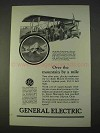 1925 General Electric Ad - Over the Mountain by a Mile