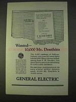 1923 General Electric Ad - Wanted 10,000 Mr. Douthitts