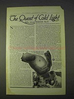 1914 General Electric Mazda No.5 Light Bulb Ad - Quest