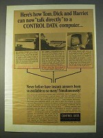 1965 Control Data Computer Ad - Talk Directly To