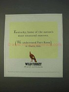 1995 Wild Turkey Bourbon Ad - Most Treasured Reserves