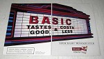 1995 Basic Cigarettes Ad - Tastes Good Costs Less