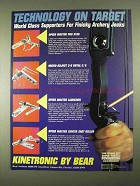 1994 Bear Archery Kinetronic Rest Ad - On Target