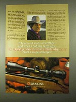 1994 Simmons 44 MAG Scope Ad - All Kinds of Weather