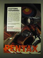 1994 Pentax Ad - HG Spotting Scope, UCF Binoculars