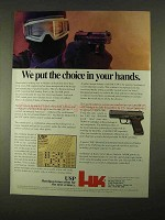 1994 Heckler & Koch USP Pistol Ad - Put choice in Hands