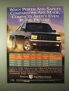 1994 Dodge Dakota Pickup Truck Ad - Power and Safety