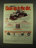 1994 Honda ATV's Ad - Clean Up in The Dirt