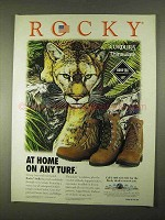 1994 Rocky Stalkers Boots Ad - At Home On Any Turf