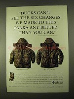 1994 Columbia Omni-Quad Parka Ad - Ducks Can't See