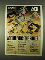 1994 Ace Hardware DeWalt Tools Ad - Saw, Sander, Drill