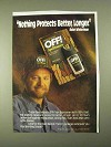 1994 Deep Woods Off! For Sportsmen Ad - Protects