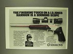 1994 Simmons Scope Ad - J.D. Jones Handgun