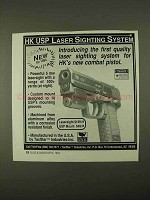 1994 Heckler & Koch USP Laser Sighting System Ad