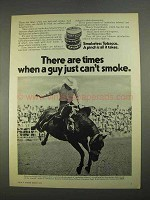 1974 Skoal Happy Days and Copenhagen Tobacco Ad - Rodeo