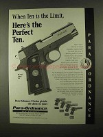 1997 Para-Ordnance P12-45 Pistol Ad - The Perfect Ten