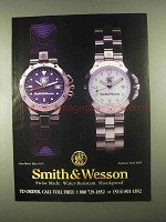 1997 Smith & Wesson Watch Ad - Stainless Steel