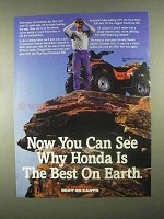 1997 Honda FourTrax Foreman 400 ATV Ad - You Can See