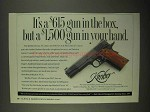 1997 Kimber Classic .45 Pistol Ad - Gun in Your Hand